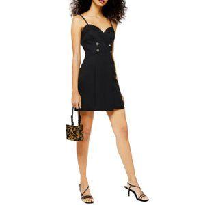 NWT Topshop Tux Mini Dress in Black